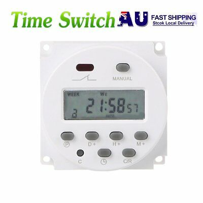 DC 12V Mini LCD Digital Programmable Timer Switch Time Relay 24 Hour Day Weekly