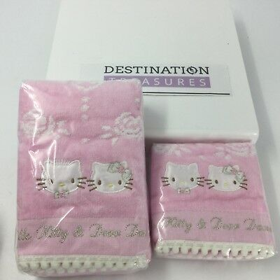 Puroland Japan Hello Kitty Dear Daniel Wedding Pink Hand /Face Towel & Washcloth