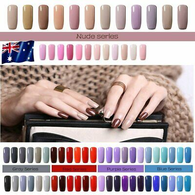 SIX COLORS RANGE UV LED NAIL GEL POLISH Lacquer NAILS SOAK OFF PROFESSIONAL AU