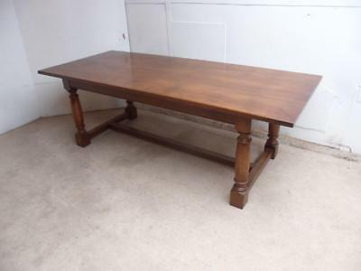 A Fantastic Solid Golden Oak 8-10 Seater Classic English Refectory/Dining Table