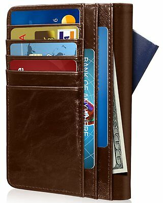 GreatShield Theft Proof Leather Wallet [5 Credit Card Slots | 3 Cash Compartment