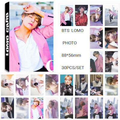 30PCS KPOP BTS Bangtan Boys Collective Personal Poster Photocard Lomo Cards