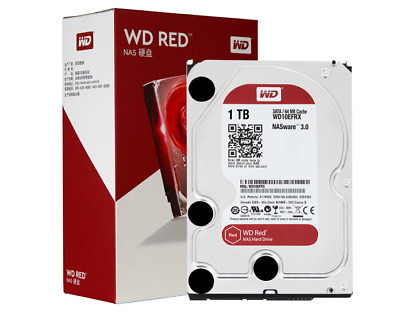 "WD HDD 1000GB WD10EFRX Red 1TB SSD Internal Hard Drive 3.5"" SATA Serial ATA III"