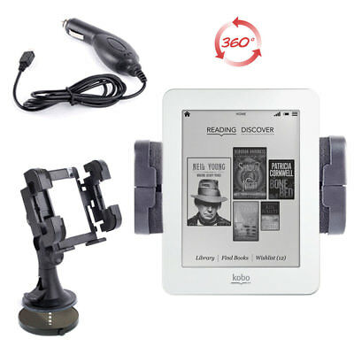 Adjustable In-Car Mount with Premium Charger for Kobo Mini (N705-KBO-W)