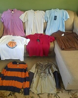 Guys large clothes mixed lot of 8