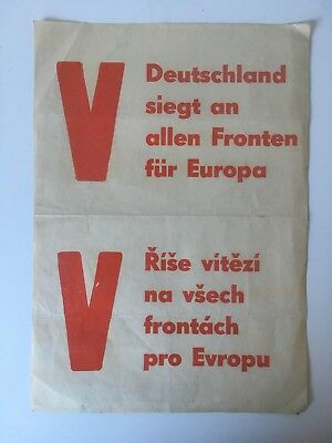 "German AUTHENTIC ""Victory"" POSTER RARE!!!"