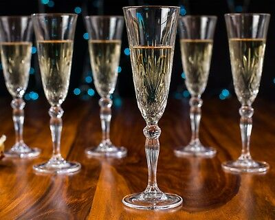 RCR 25600020006 Italian Crystal Melodia Champagne Flutes Set of 12 -- SALE