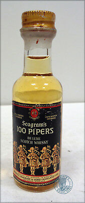 Miniature / Mignon Scotch Whisky 100 Pipers SEAGRAM'S (d)