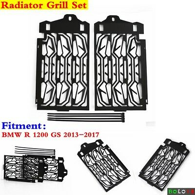 Motorcycle Metal Black Radiator Cooler Grill Guard For BMW R 1200 GS 2013-2017