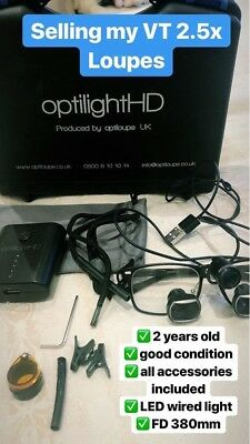 Optiloupe UK 2.5x Magnification Dental Loupes, RRP £999