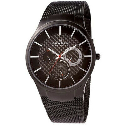 Skagen Men's Quartz Chronograph Black Tone Stainless Steel 30m Watch 809XLTBB