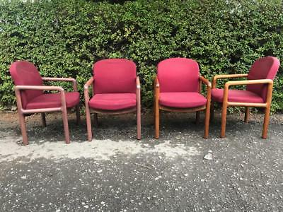 Set of 21 Gordon Russell Boardroom / Dining Arm Chairs SOLD INDIVIDUALLY