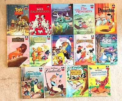 Disney's Wonderful World Of Reading-Lot of 14 Books-Hardcover -RARE-VINTAGE-NEW!