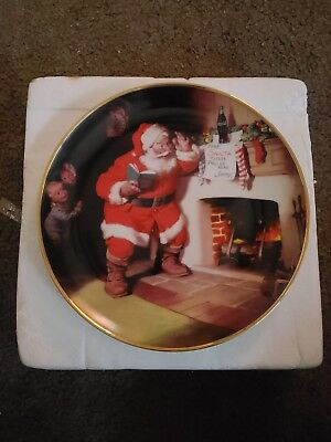Coca Cola The Pause that Refreshes Plate ...1993...Franklin Mint