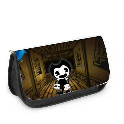 Bendy And The Ink Machine Black Zipped Pencil Case Game Horror Ps4 Black