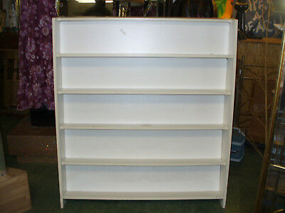 "2-SIDED SHELF *BOOKS DVD'S VHS* Store Fixture Display Unit 48"" x 54"" 11 Shelves"