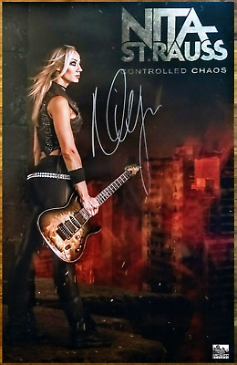 NITA STRAUSS Controlled Chaos 2018 Ltd Ed Hand Signed RARE Poster! ALICE COOPER
