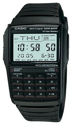 Casio DBC-32-1A Men's Classic Resin Band 25 Page Databank Calculator Watch