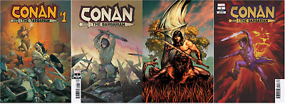 (2019) Conan The Barbarian #1 4 Variant Cover Set! Ribic! Fagan! Saiz! Teaser!