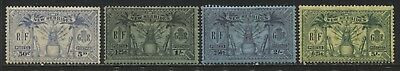 New Hebrides 1925 4 values to 5/ mint o.g.