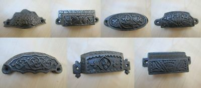 Cast Iron Shell Cup Pull Kitchen Cabinet Cupboard Drawer Door shell handle