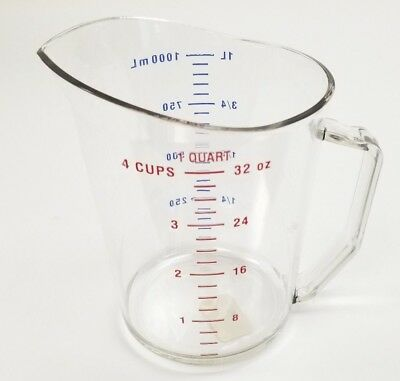 Cambro 100MCCW135 Clear Camwear 1 Qt Measuring Cup CLRCW ONE QUART Plastic poly