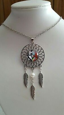 The Nightmare Before Christmas Jack Lisa Dreamcatcher Pendant Necklace