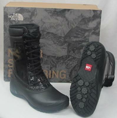 NEW NorthFace Womens 2T4Y Shellista II Mid Luxe Black Graphite Grey Boots 9.5