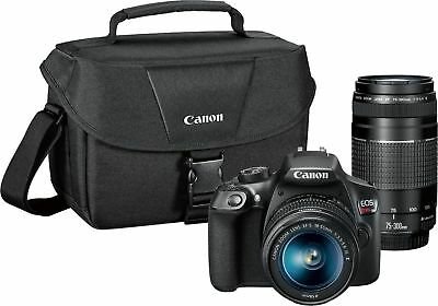 Canon - EOS Rebel T6 DSLR Camera with EF-S 18-55mm IS II and EF 75-300mm III ...