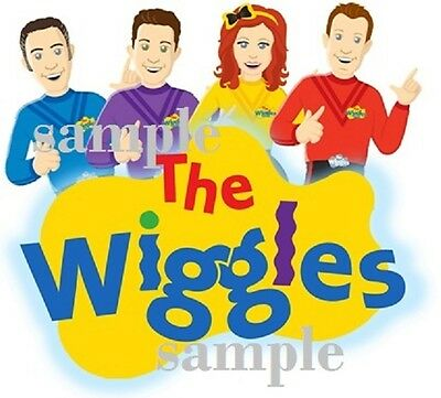 The Wiggles Team T-Shirt for WHITE fabrics Iron On Transfer 10x9CMS Emma