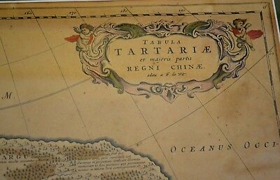 C. 1680 Antique Map Of China Frederick De Wit Tabula Tartariae..chinae Rare