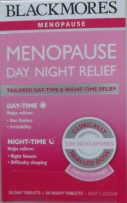 1 Box Of Blackmores Menopause Day And Night Relief 60 Tablets