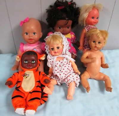 Lot of Six Vintage Dolls, Fisher Price, Kenner, Remco, Horsman, Lauer, Amer. Cha