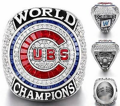 2016 Chicago Cubs World Series Champions Ring S8-14 Zobrist Bryant Rizzo Baez