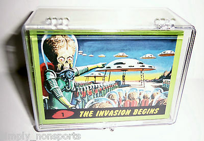 Mars Attacks 2012 Topps Heritage Green Border Parallel Set 1-55