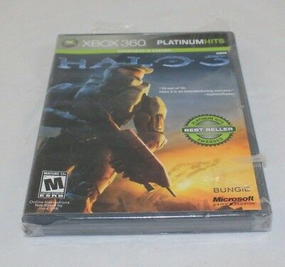 Halo 3 (Microsoft Xbox 360, 2007) Platinum Hits Brand New Factory Sealed