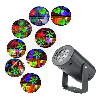 12Pattern Christmas Projector Light Laser Fairy Lights Projection Landscape Lamp