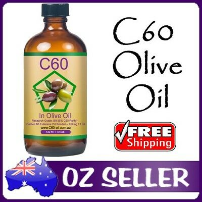C60 in Organic Olive Oil Research Grade 99.95% Carbon 60 Fullerene 90mg/100ml