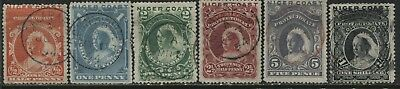Niger Coast QV 1893 1/2d to 1/ used