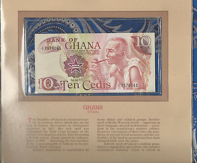 Most Treasured Banknotes Ghana 1978 10 Cedis P16f AUNC Prefix X/1