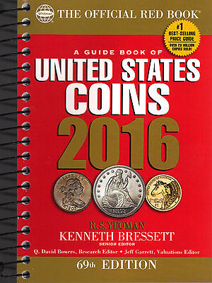 2016 The Official Red Book Price Guide of United States Coins Spiral Bound Soft