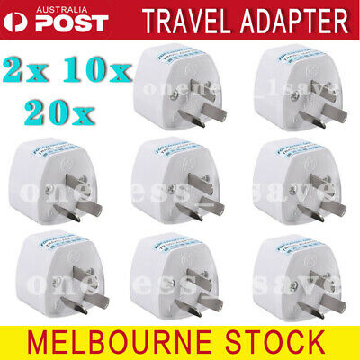 20x Universal Travel Adapter International UK USA EU to AU Australian Power Plug