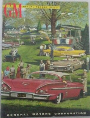 1957 GM Annual Report General Motors Corporation Rare Hard to Find Advertising