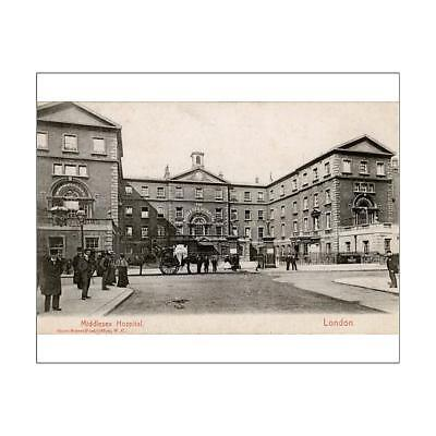 """18073508 10""""x8"""" (25x20cm) Print of The Middlesex Hospital, London"""