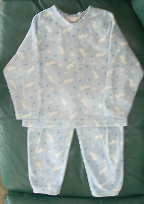 Size 6 boys blue polar bear 2-piece polyester pajama set by Belton