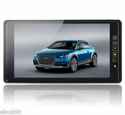 """New 9"""" TFT LCD Color Mirror Screen Car Bus RV Sunvisor Backup Rear View System"""