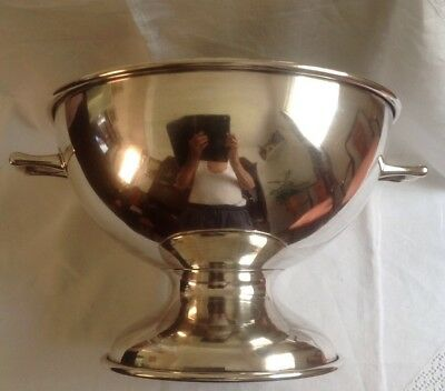Huge SilverPlated Punch Bowl With 2 Handles / Ice Bucket   - Regal Plate