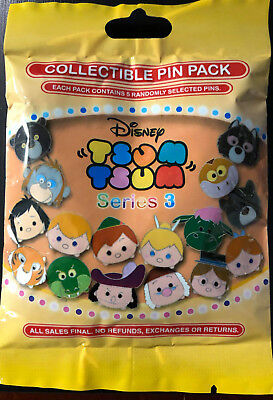 Disney Collectible Pin Pack TSUM TSUM S3 Mystery Bag of 5 Pins Sealed in Canada