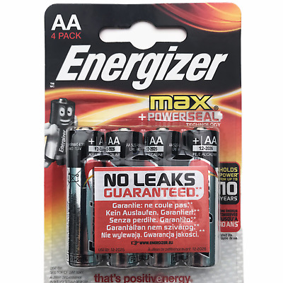 Energizer AAA x 4 alkaline batteries 1.5v Max Plus LR03 expiry 2030 *UK seller*