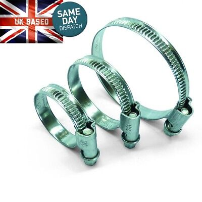 Hose Clips Zinc Plated Worm Drive Marine 8mm - 120mm Clamp Sizes Available